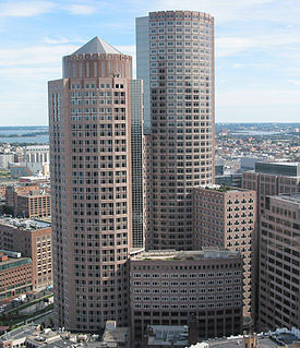 Office building in Boston's financial district at one internation place