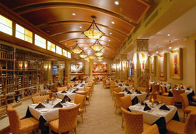 Main dining room at Eddie Merlots restaurant