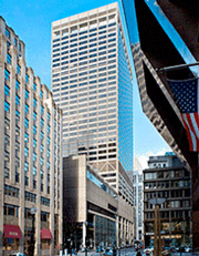 Office building at 1 Federal St. in Boston's financial district