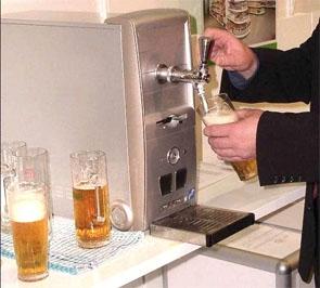 Beer tap in office computer