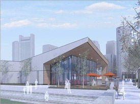 rendering of the Seaport Innovation Center