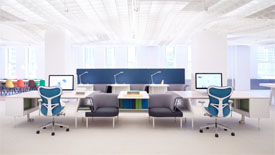 Interior design for modern office space