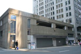 Proposed office tower location in Financial District Boston