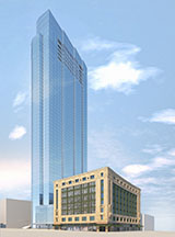 Rendering of Millennium Tower in Downtown crossing Boston