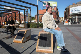 Solar bench in Boston, MA