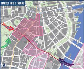 map of Boston office market