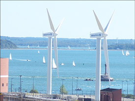 Wind power for office towers