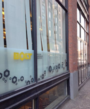 Bolt in Boston's Financial District