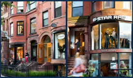 Newbury Collection of retail stores on Newbury Street in Boston