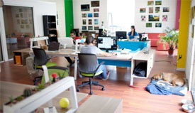 Cool, creative office space