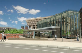 rendering of the new governement center MBTA station