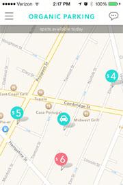 Organic parking app in Boston