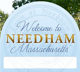 Town of Needham Ma welcome sign