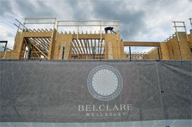 Wellesley office building Belclare being built