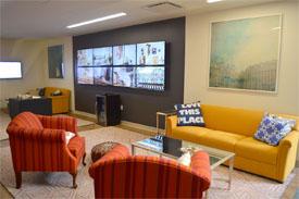 Wayfair Back bay office space interior