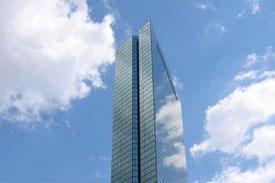 Hancock tower office building in Boston