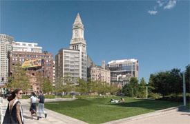 Location of Boston Greenway condos