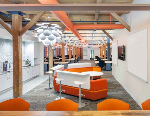 Cool modern office space in Boston