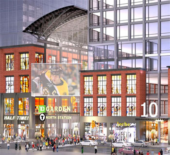 rendering of North Station tower