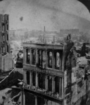 archive image of the great Boston fire in 1872