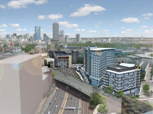 rendering of Fenway office development in Boston MA