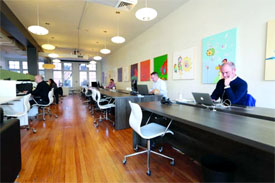 shared office space in Boston's back bay