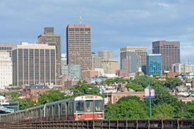 Boston from Cambridge over redline T