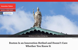 cover of startup pub that touts Boston as an innovation hub