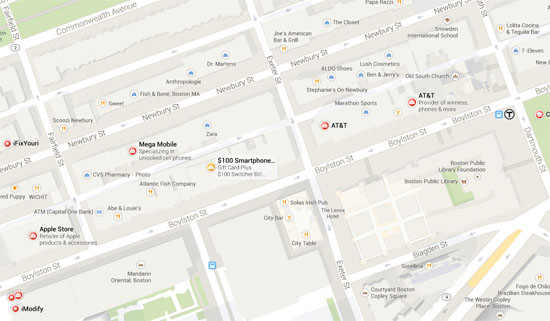 map of back bay tech retail stores