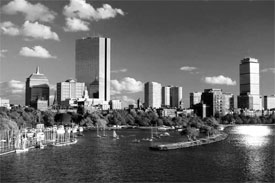 boston office buildings by water