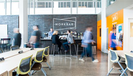 co-working office space at WorkBar in Boston