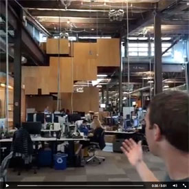 Facebook open office space