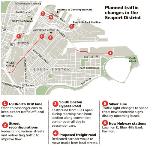 map of proposed Seaport Traffic changes