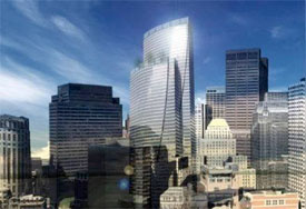 Rendering of modernized Boston Financial District