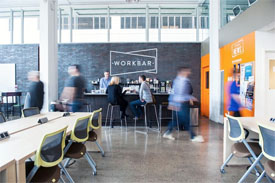 Workbar interior in Boston