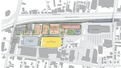 map of the Boston Landing project
