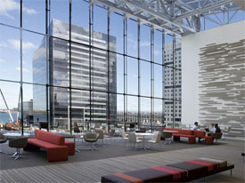 rendering of new Seaport office space for PwC
