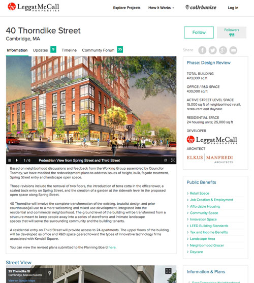 site to track Cambridge office development online
