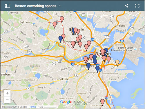 map of boston and cambridge shared office space