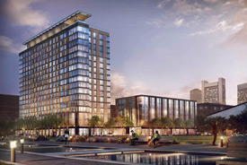 Rendering of Seaport office building