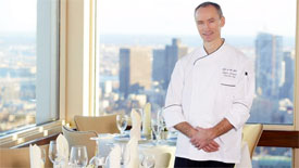 Stefan Jarausch executive chef at Top of the Hub Boston
