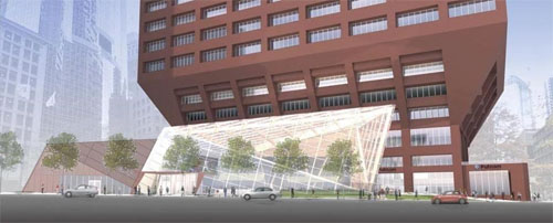 Rendering of redevelopment at 100 Federal Street