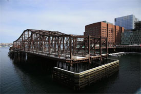 Seaport Bridge in Boston