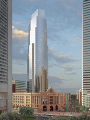 Architects rendering of south station air-rights development