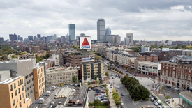 Elevated view of Fenway office buildings
