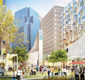 Rendering of Winthrop square development