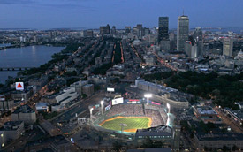Boston Fenway skyline