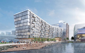 Rendering of an upcoming Boston Seaport development