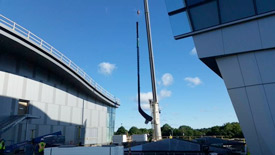 hockey stick for bruins practice facility in Brighton