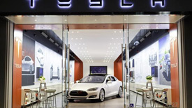 Tesla retail store in Back Bay